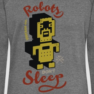 vintage Robots - Women's Boat Neck Long Sleeve Top