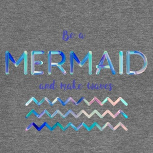 Be a mermaid - Women's Boat Neck Long Sleeve Top