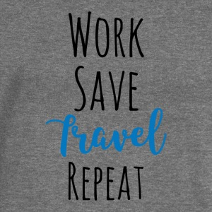 Work Save Travel Repeat - Women's Boat Neck Long Sleeve Top