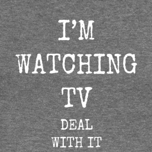 i'm watching tv deal with it - Women's Boat Neck Long Sleeve Top