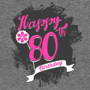 80 Birthday - Congratulations gift - Women's Boat Neck Long Sleeve Top