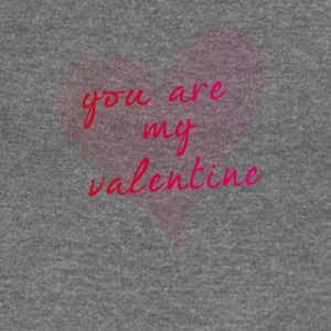 scribble love you are my valentine heart drawing - Women's Boat Neck Long Sleeve Top