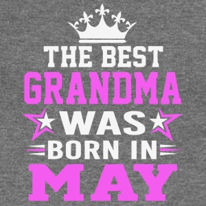 The best Grandma was born in May shirt - Women's Boat Neck Long Sleeve Top