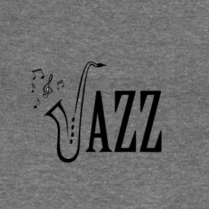Cool Jazz Music Shirt, Saxophone and Musical notes - Women's Boat Neck Long Sleeve Top