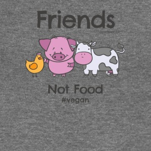 Friends Not Food TShirt for Vegans and Vegetarians - Women's Boat Neck Long Sleeve Top