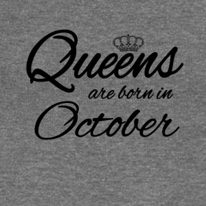 Queens Born October Princess Birthday Birthday - Women's Boat Neck Long Sleeve Top