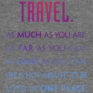 Travel. As much as you are. As Far as you can. - Frauen Pullover mit U-Boot-Ausschnitt von Bella
