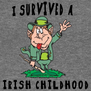Irish I Survived A Irish Childhood - Women's Boat Neck Long Sleeve Top