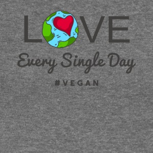 "Vegan Tshirt ""LOVE Every Single Day #vegan"" - Women's Boat Neck Long Sleeve Top"