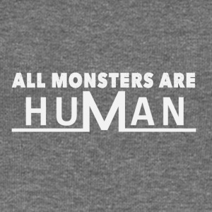 All monsters are human - Women's Boat Neck Long Sleeve Top