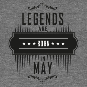 Birthday May legends born gift birth - Women's Boat Neck Long Sleeve Top