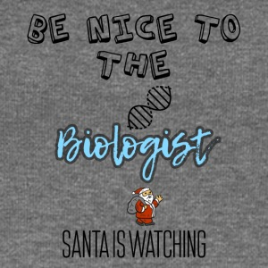Be nice to the biologist Santa is watching - Women's Boat Neck Long Sleeve Top