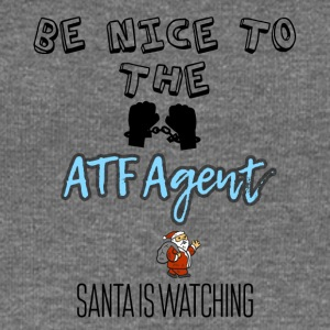 Be nice to the ATF Agent Santa is watching - Women's Boat Neck Long Sleeve Top