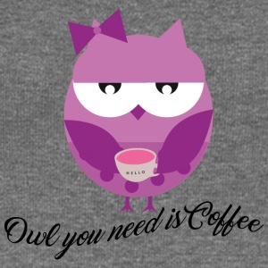Owl you need is coffee - Frauen Pullover mit U-Boot-Ausschnitt von Bella