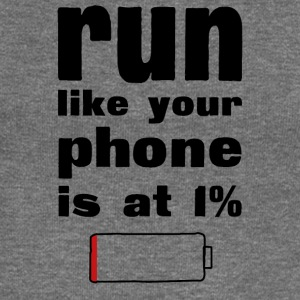 Run like your phone is at 1% - Women's Boat Neck Long Sleeve Top