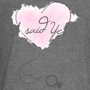 """I said Yes!"" - Engagement - Bride to be - Women's Boat Neck Long Sleeve Top"