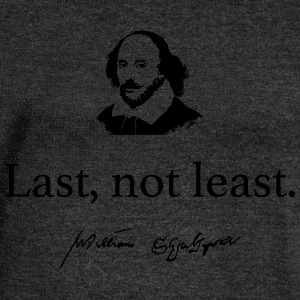 Shakespeare: Last, not least .... - Women's Boat Neck Long Sleeve Top