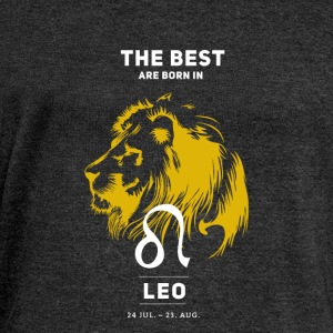 Leo zodiac horoscope signs July Gold Birthday - Women's Boat Neck Long Sleeve Top
