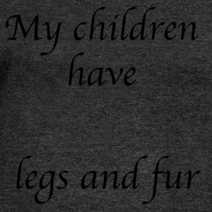 My children have 4 legs and fur - Women's Boat Neck Long Sleeve Top