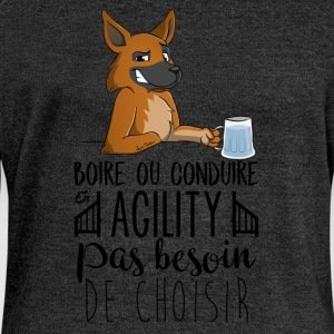 Drink or Driving - German Shepherd - Women's Boat Neck Long Sleeve Top