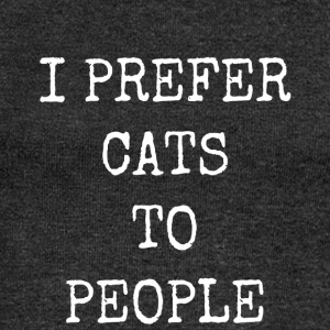 I prefer cats to people - Women's Boat Neck Long Sleeve Top