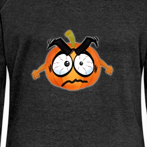Pumpkin Happy Thanksgiving T-Shirt emoji comic wit - Frauen Pullover mit U-Boot-Ausschnitt von Bella