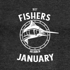 Present for fishers born in January - Women's Boat Neck Long Sleeve Top