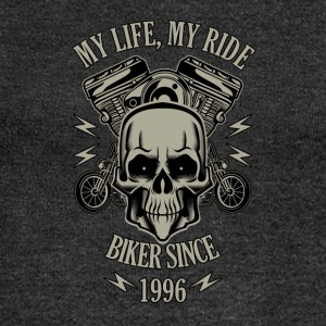 Gift for Biker - Year 1996 - Women's Boat Neck Long Sleeve Top