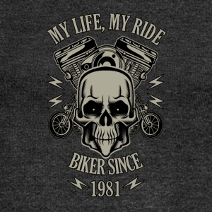 Gift for Biker - Year 1981 - Women's Boat Neck Long Sleeve Top