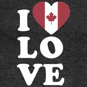 I love Canada - Women's Boat Neck Long Sleeve Top