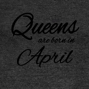 Queens Born April Birthday Birthday Princess - Women's Boat Neck Long Sleeve Top