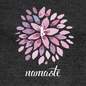 Namaste Yoga Lotus om meditation chakra energy sh - Women's Boat Neck Long Sleeve Top