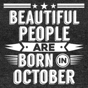 Beatiful people born in October - T-Shirt - Women's Boat Neck Long Sleeve Top