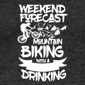 Mountainbike and Drinks - Weekend Forecasts - Frauen Pullover mit U-Boot-Ausschnitt von Bella