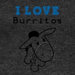 I Love Burritos - Women's Boat Neck Long Sleeve Top