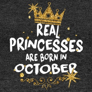 Real princesses are born in October! - Women's Boat Neck Long Sleeve Top
