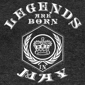 Legends may born birthday gift birth - Women's Boat Neck Long Sleeve Top