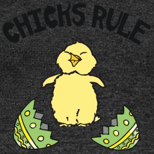 Easter Chicks Rule - Women's Boat Neck Long Sleeve Top