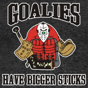Hockey Goalies Have Bigger Sticks - Women's Boat Neck Long Sleeve Top
