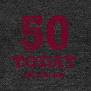 50th birthday: 50 Today (that's 10 Celsius) - Women's Boat Neck Long Sleeve Top