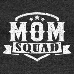 MOM SQUAD - Women's Boat Neck Long Sleeve Top