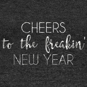 New Years Eve: Cheers To The Freakin' New - Women's Boat Neck Long Sleeve Top
