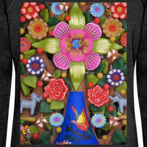 tree of Life_ - Women's Boat Neck Long Sleeve Top