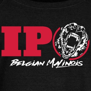 IPO BELGIAN MALINOIS - Women's Boat Neck Long Sleeve Top