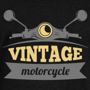Vintage Motorcycle - Women's Boat Neck Long Sleeve Top