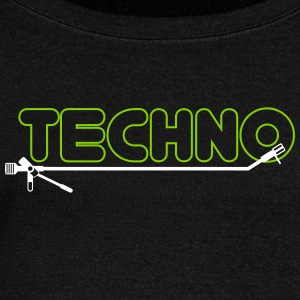 Techno turntsble - Women's Boat Neck Long Sleeve Top