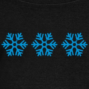 snowflakes - Women's Boat Neck Long Sleeve Top