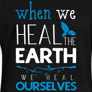 When we heal the earth we heal ourselves - Women's Boat Neck Long Sleeve Top