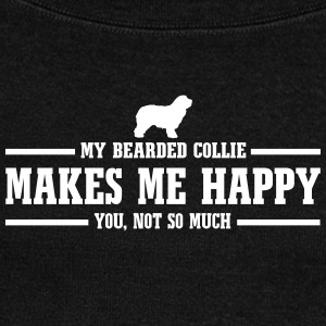 BEARDED COLLIE makes me happy - Women's Boat Neck Long Sleeve Top