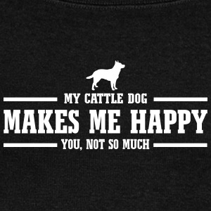 CATTLE DOG makes me happy - Frauen Pullover mit U-Boot-Ausschnitt von Bella